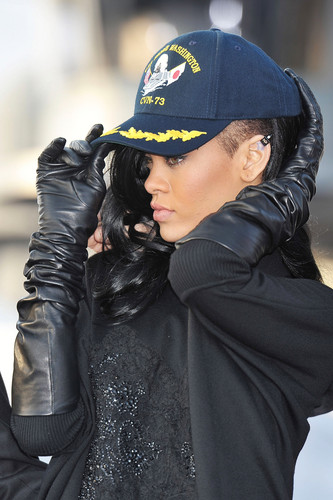 Battleship Press Conference On The USS George Washington In Japan [2 April 2012] - rihanna Photo