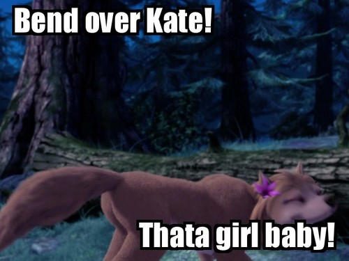 Bend over Kate!