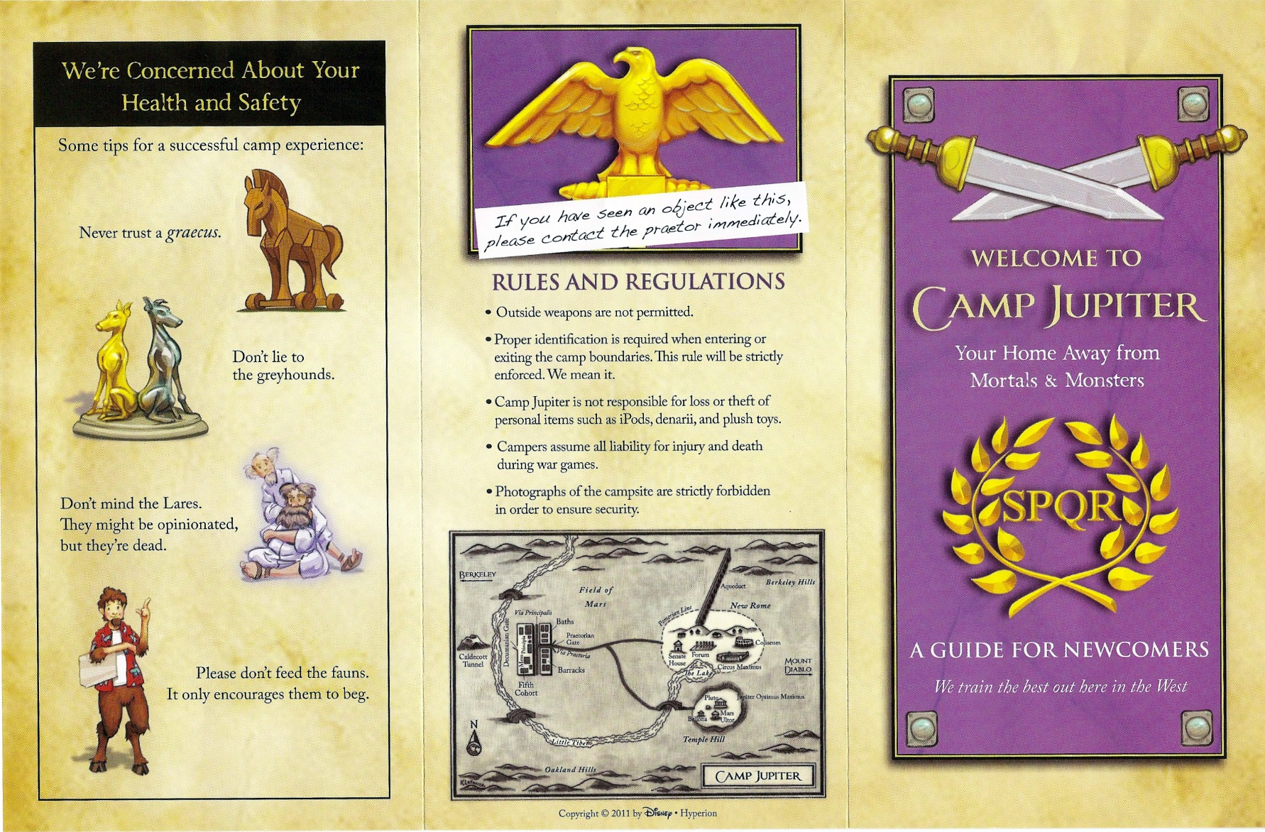 Camp Jupiter Brochure, side 1