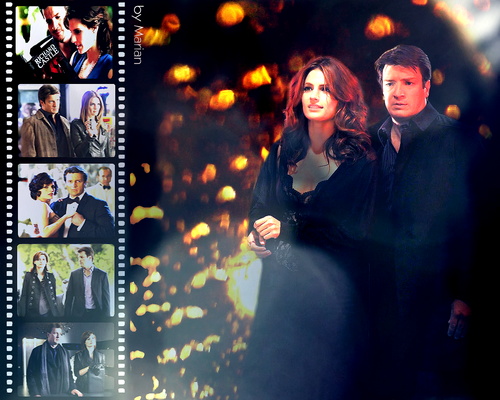Castle wallpaper probably containing a stained glass window entitled Caskett Movie