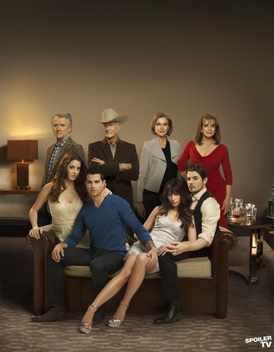 Dallas Tv Show wallpaper with a drawing room, a family room, and a living room entitled Dallas -  New Promotional Cast Group Photo