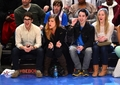 Darren Criss, Mia Swier &amp; Chuck Criss at the Cleveland Cavaliers vs New York Knicks game - darren-criss photo