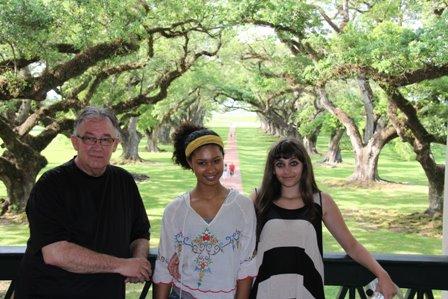Dennis, Michaela, and Paris at Oak Alley Plantation