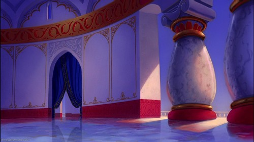Disney Crossover Wallpaper Possibly Containing A Drawing Room Called Empty Backdrop From Aladdin