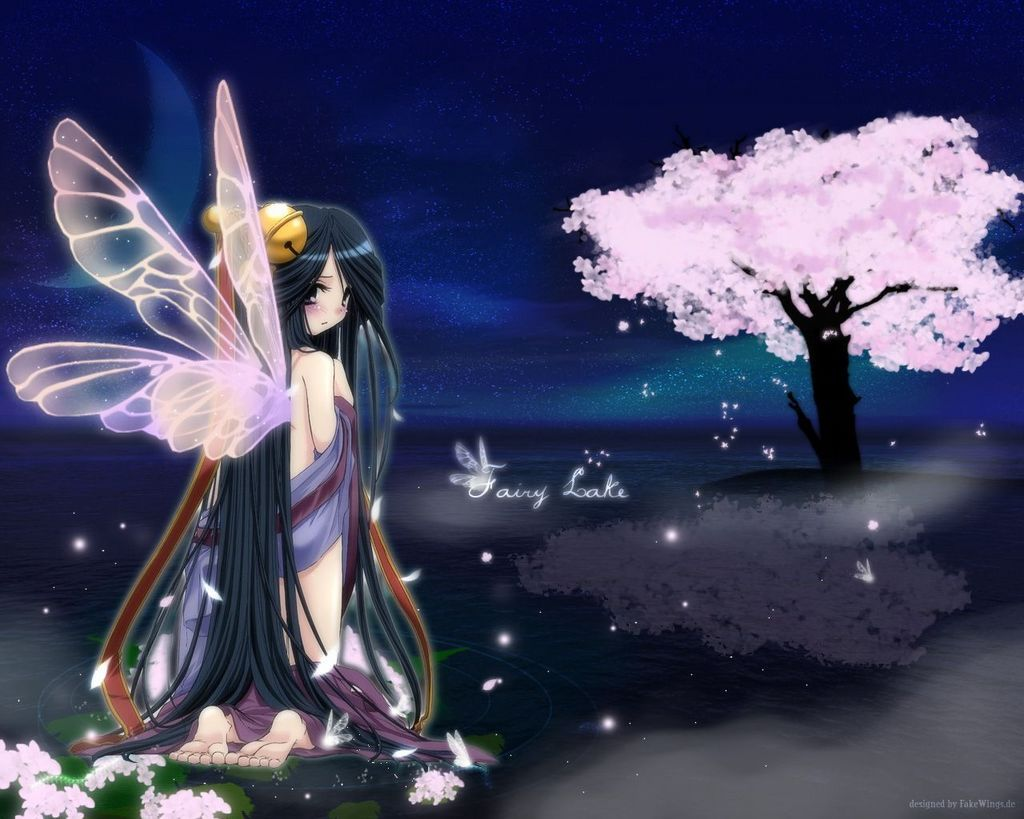 ✮ ANIME ART ✮ empress. . .angel. . .angel wings. . .silver hair ...