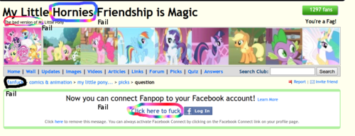 Fail My little pony Fan page