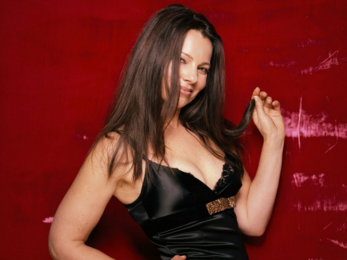 Fran Drescher karatasi la kupamba ukuta with a bustier, a cocktail dress, and attractiveness entitled Fran
