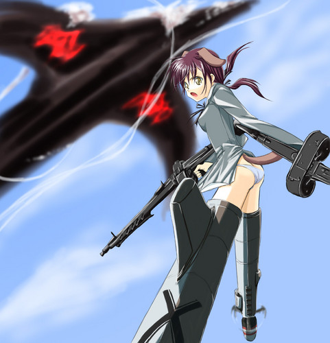 Strike Witches wallpaper possibly with a wind turbine called Gertrud Barkhorn