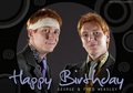 Happy Birthday George and Fred!