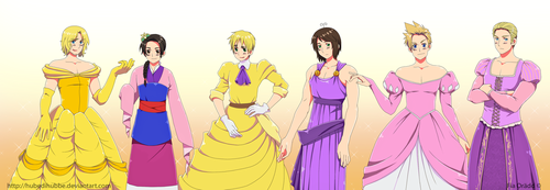 Hetalia: Disney Princesses