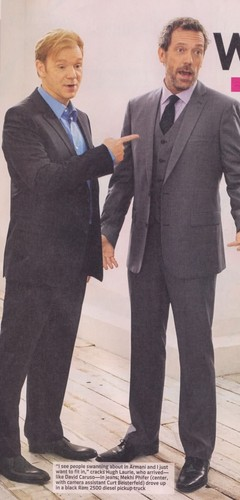 Hugh Laurie and David Caruso (old photo)