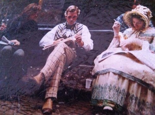 Hugh Laurie and Kelly Macdonald on the set of Cousin Betty in Bordeaux 1997
