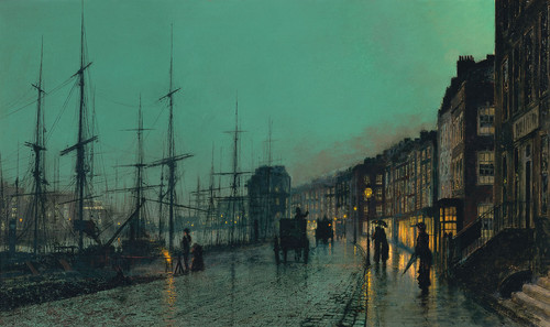 John Atkinson Grimshaw. Shipping on the Clyde, 1881