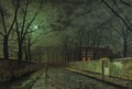 John Atkinson Grimshaw. Silver Moonlight, 1880  - fine-art photo