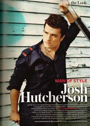 Josh Hutcherson in InStyle Magazine Scans