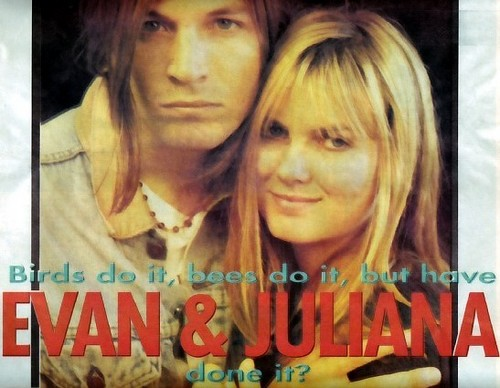 Juliana Hatfield wallpaper with a portrait entitled Juliana Hatfield and Evan Dando