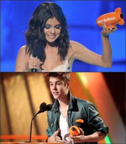 Justin Bieber and Selena Gomez KCA