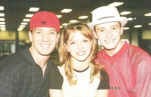 Justin Timberlake and JC Chasez wallpaper titled Justin Timberlake and JC Chasez and Britney Spears