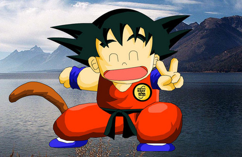 Kid goku Peace