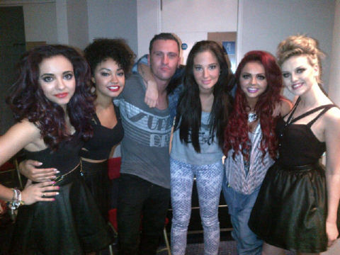 Little Mix with Tulisa and Gareth! <3