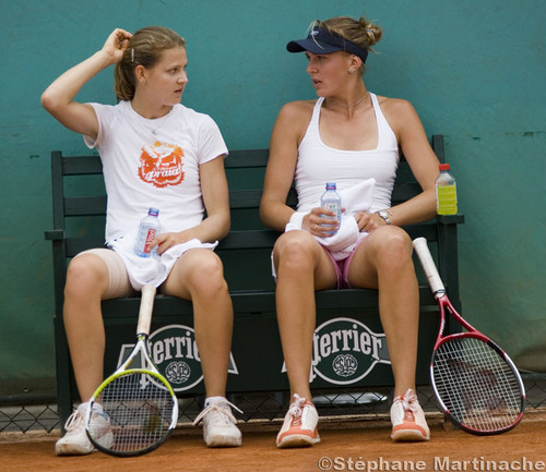 Lucie and Nicole :exgirlfriend and wife Berdych and Stepanek..