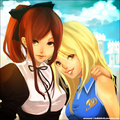 Lucy Heartfilia and Erza Scarlet