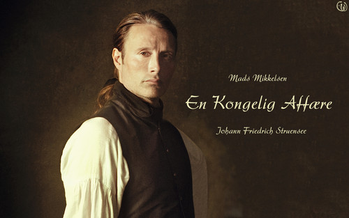 Мадс Миккельсен Обои probably with a sign entitled Mads Mikkelsen in A royal affair
