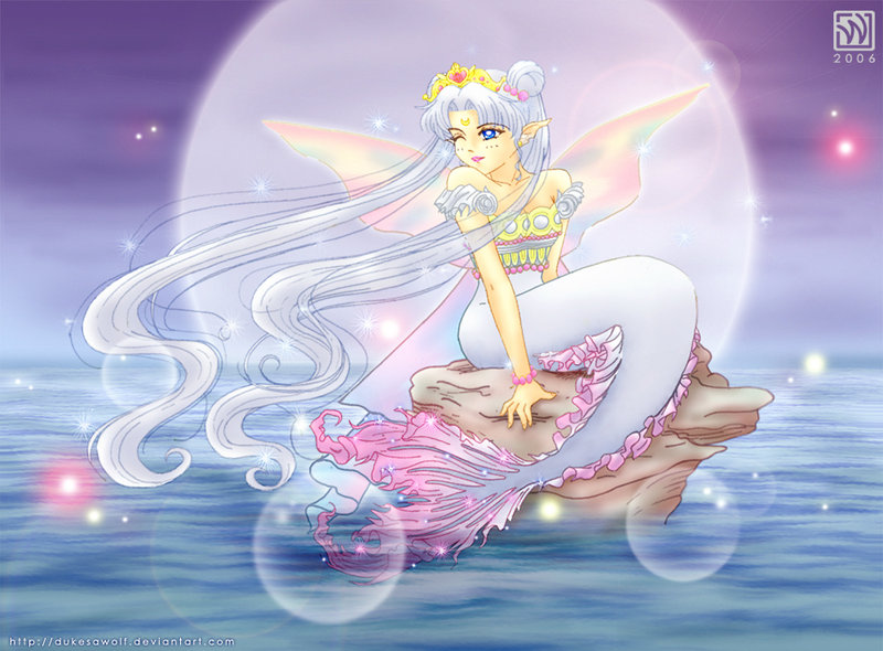 Mermaid Serenity - The moon Family Fan Art (30227393) - Fanpop