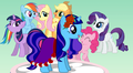 My character, Periwinkle Skies at the Royal Wedding - my-little-pony-fim-fan-characters screencap