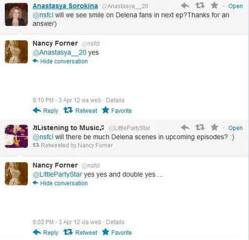 Nancy's Forner TWEETS ABOUT DE!