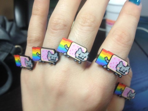 Nyan Cat Rings