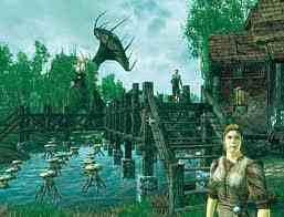 Oblivion (Elder Scrolls IV) fond d'écran with a business district titled Oblivion