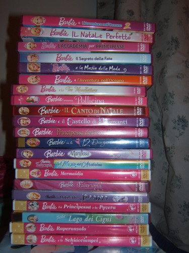 Pile of Barbie movies... (my collection)