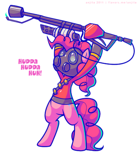 Pinkie Pie as Pyro (Oh my Luna o_o)