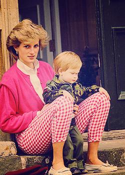 Princess Diana and the Princes