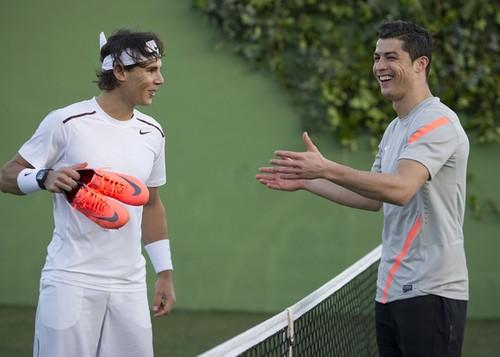 Rafa and Cristiano