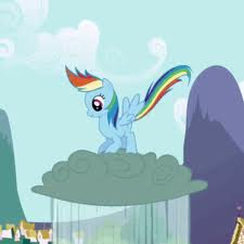Rainbows likes jumping on clouds...