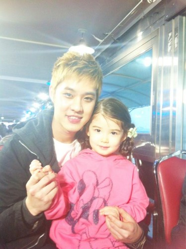 SeungHo with kid