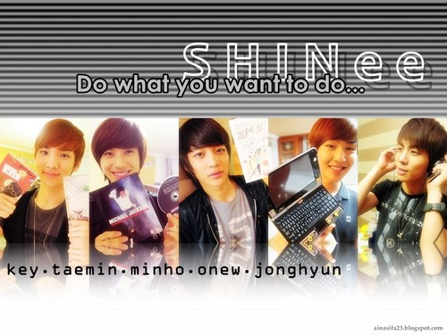 magicalfairy wallpaper containing a portrait entitled Shining SHINee <3