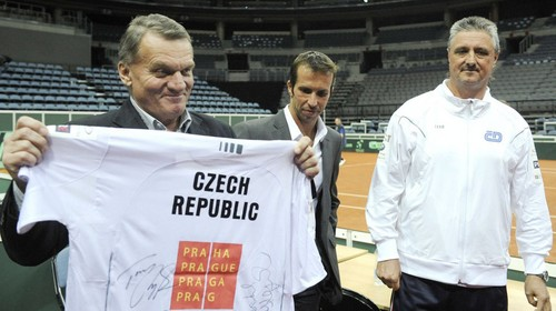 Stepanek and Berdych Davis Cup in Prague