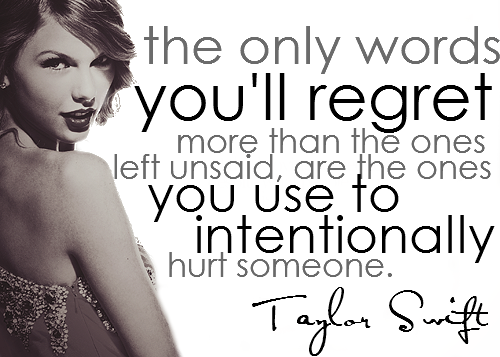 Taylor Swift Regret Quote