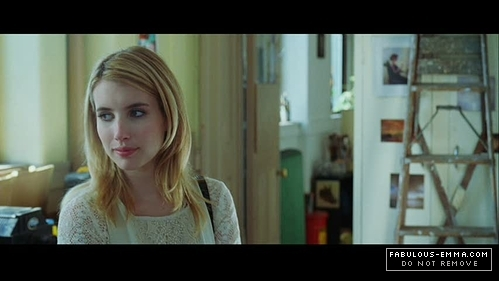 Emma Roberts wallpaper probably containing a laptop and a portrait titled The Art of Getting By