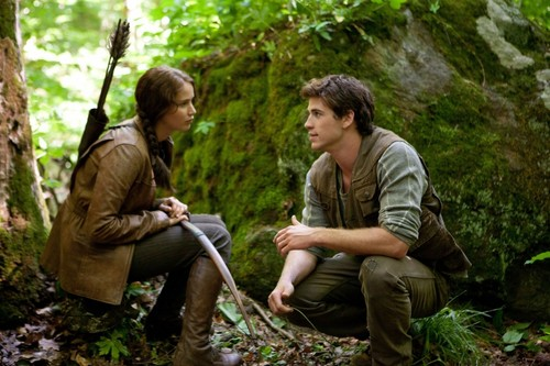 The Hunger Games Gale and Katniss