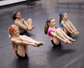 The girls' stretching - dance-moms-pittsburgh photo
