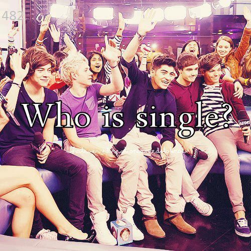 They were asked who was single