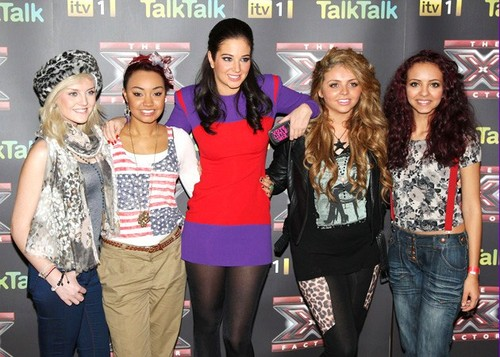 Tulisa with Little Mix