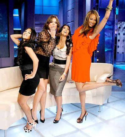 Tyra with the crazy Kardashians