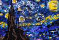 busje, van Gogh's Starry Night door Susan Myers