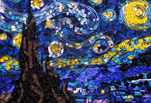 وین Gogh's Starry Night سے طرف کی Susan Myers