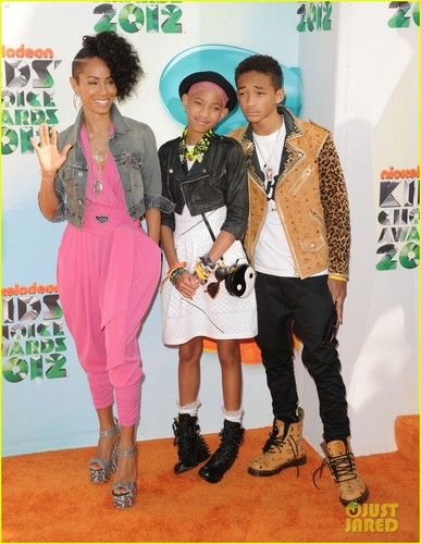 Will, Jada, Jaden, & Willow Smith - Kids' Choice Awards 2012